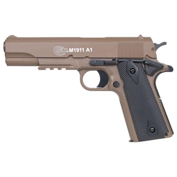KWC Airsoft Pistol Colt 1911 A1 H.P.A. 0.5 J Spring Pressure tan