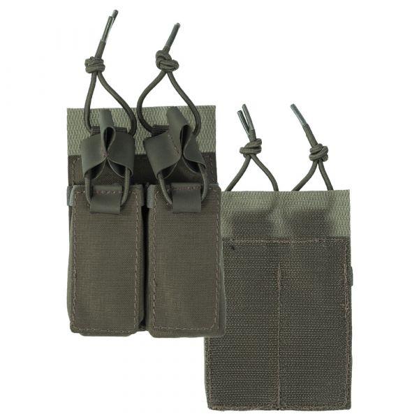 Mil-Tec Double Pistol Magazine Pouch Velcro Back olive