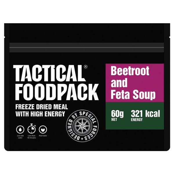 Tactical Foodpack Freeze Dried Meal Beetroot and Feta Soup