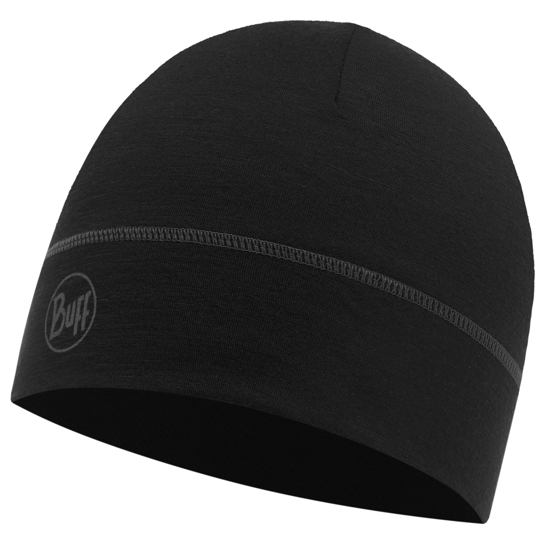 Buff Lightweight Merino Wool Hat Solid Black