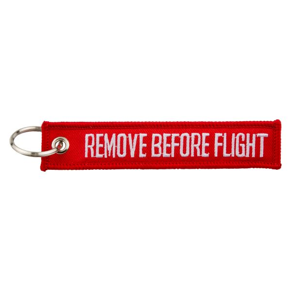 "Keyring ""REMOVE BEFORE FLIGHT"""