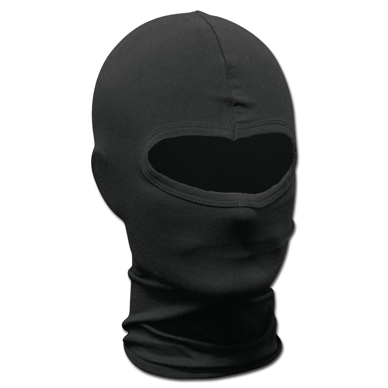 Face Mask 1-Hole Elasthan black