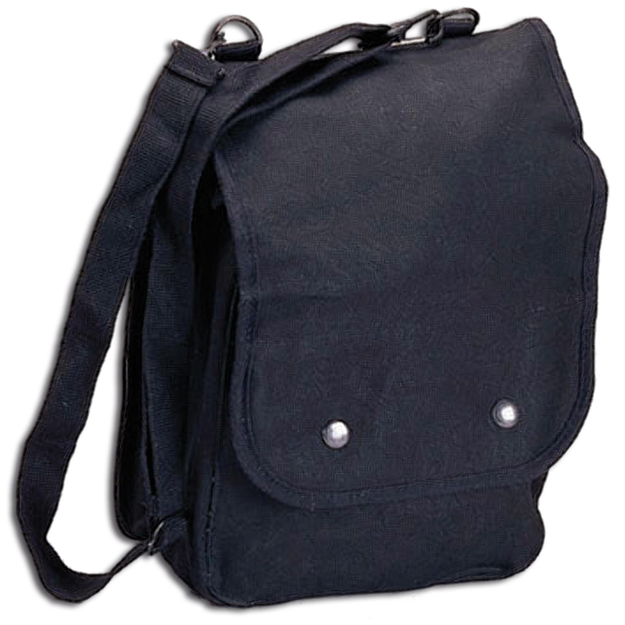 Canvas Map Case Shoulder Bag black