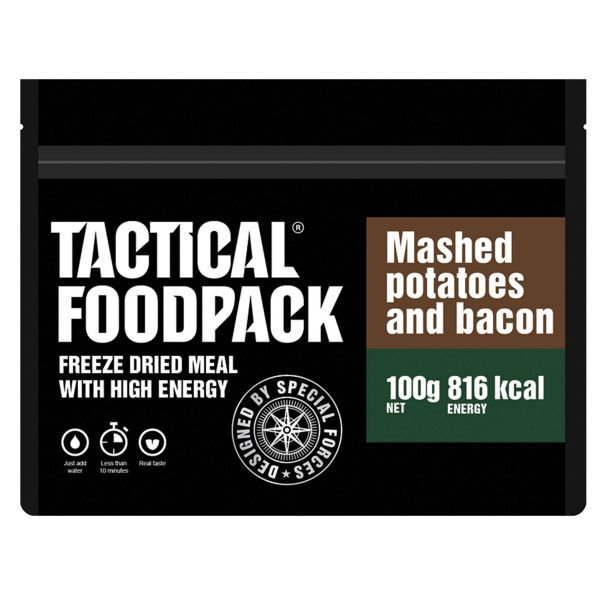 Tactical Foodpack Freeze Dried Meal Mashed Potatoes and Bacon