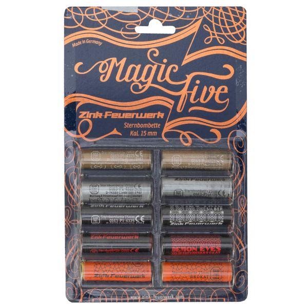 Zink Fireworks Magic Five Assortment 15 mm 10-Piece