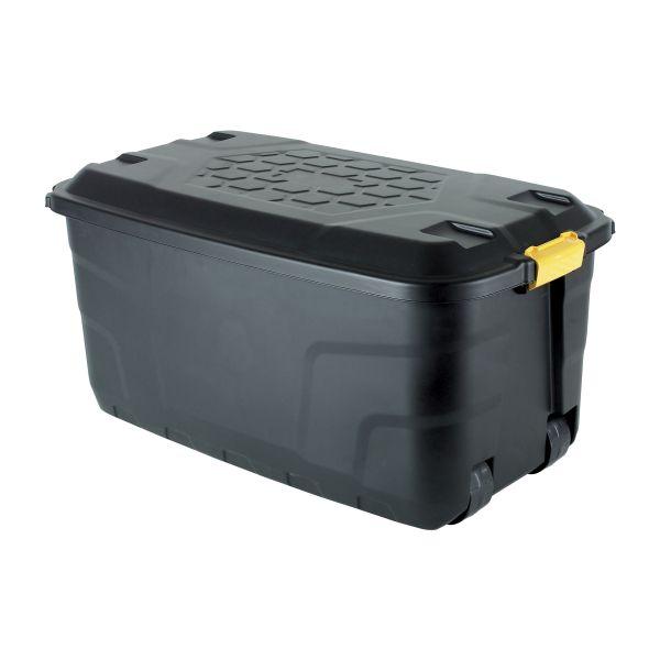 Plastic Transport Box 145 L black
