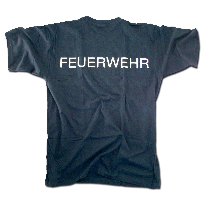 T-Shirt Feuerwehr blue/white