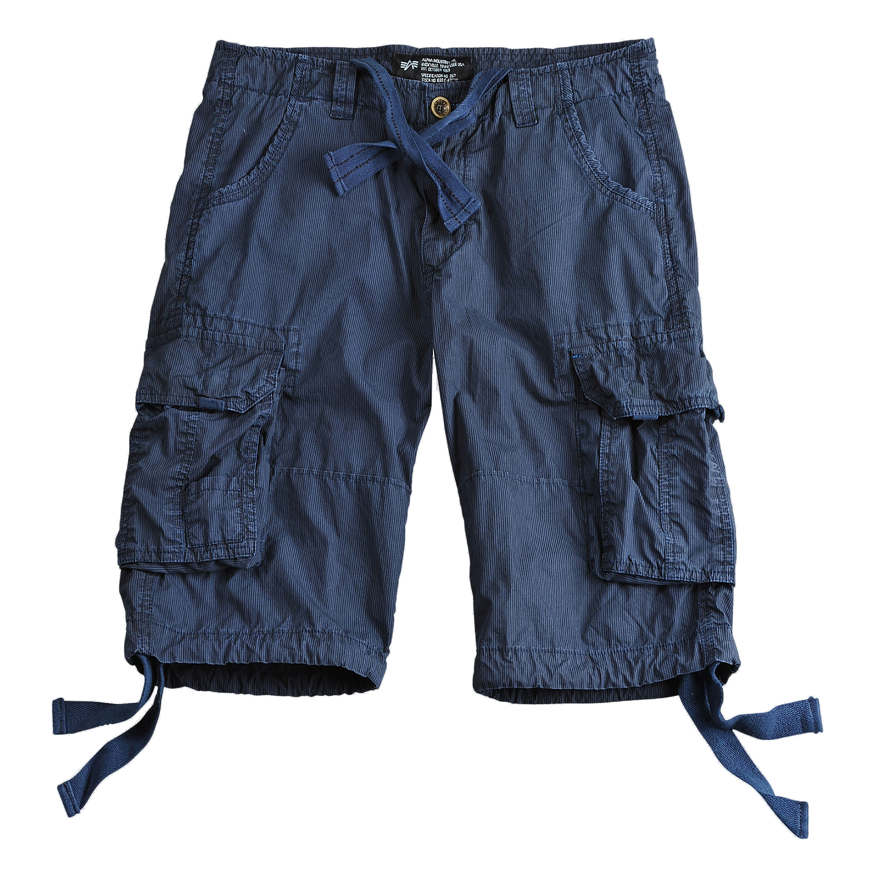 Alpha Industries Jet II Short indigo striped