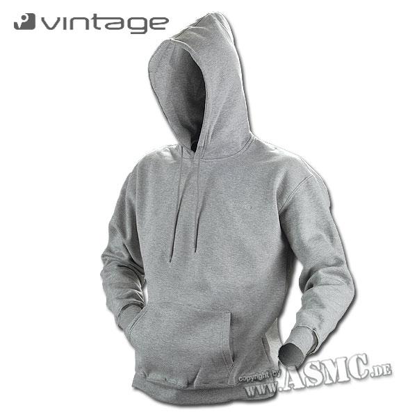 Hood Sweatshirt Vintage Industries Derby light gray