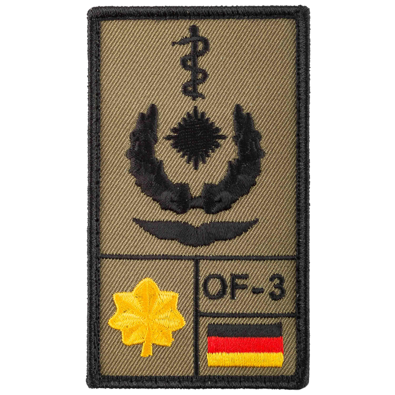 Café Viereck Rank Patch Oberstabsarzt Luftwaffe olive