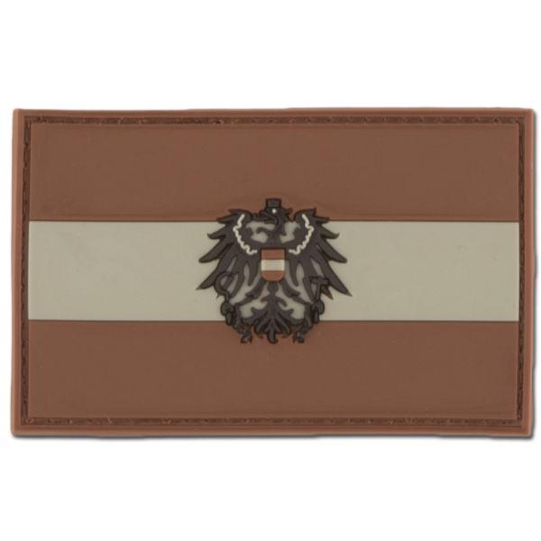 3D Patch Austria with Coat of Arms dark desert