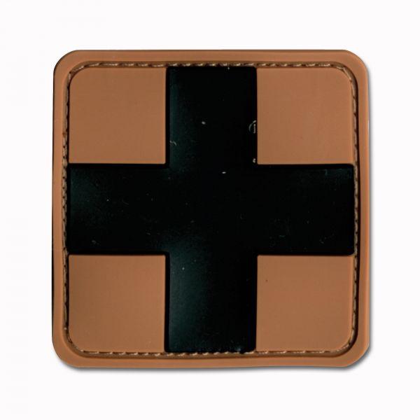 3D-Patch Red Cross Medic brown-black