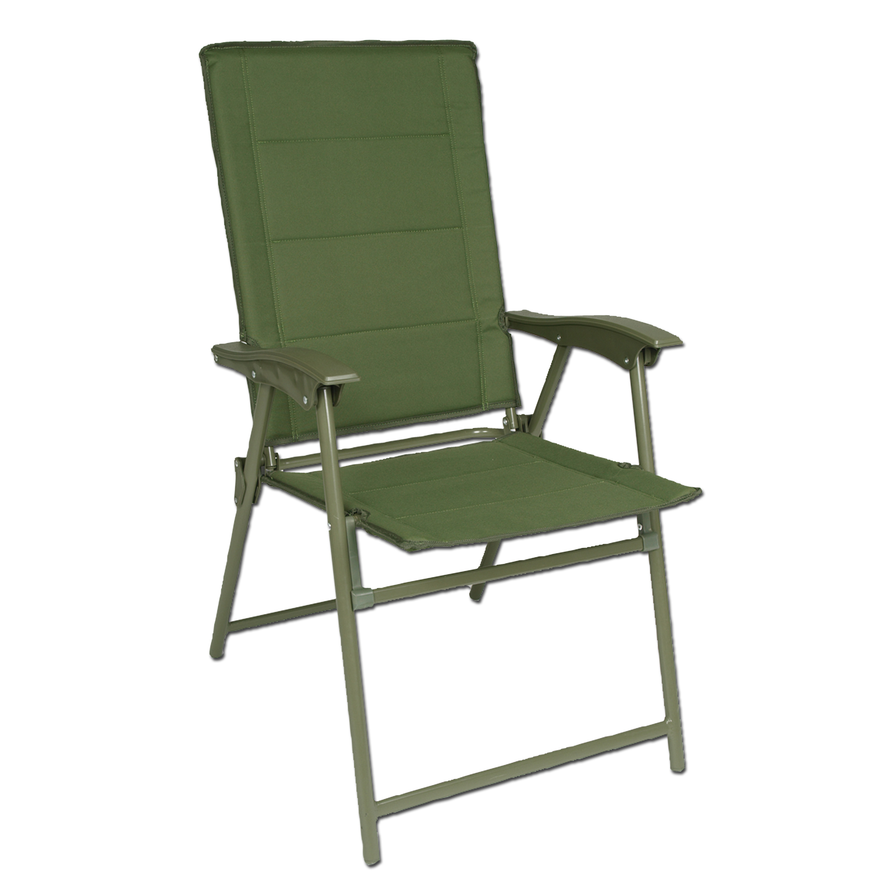 Army Folding Chair with Armrest olive