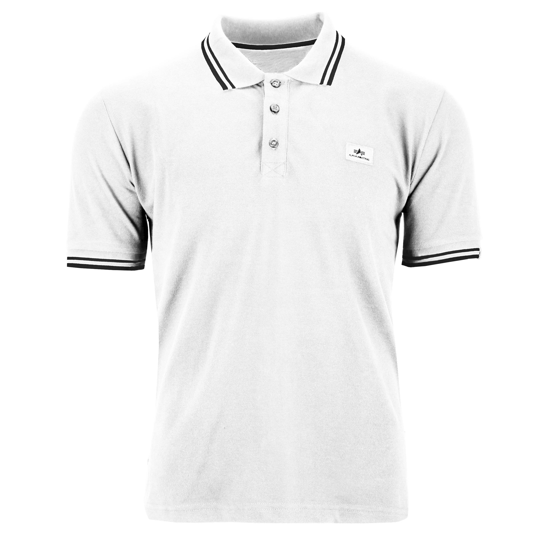 Alpha Industries Shirt Twin Stripe Polo II white/black