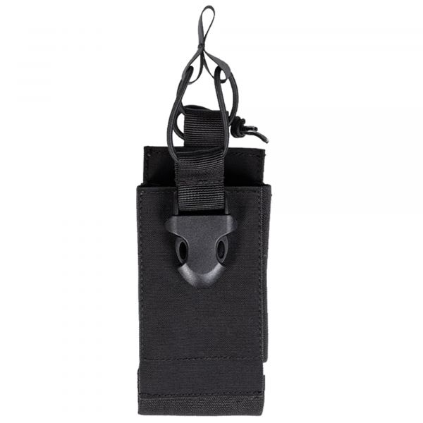Mil-Tec Radio Pouch with Velcro Backing black