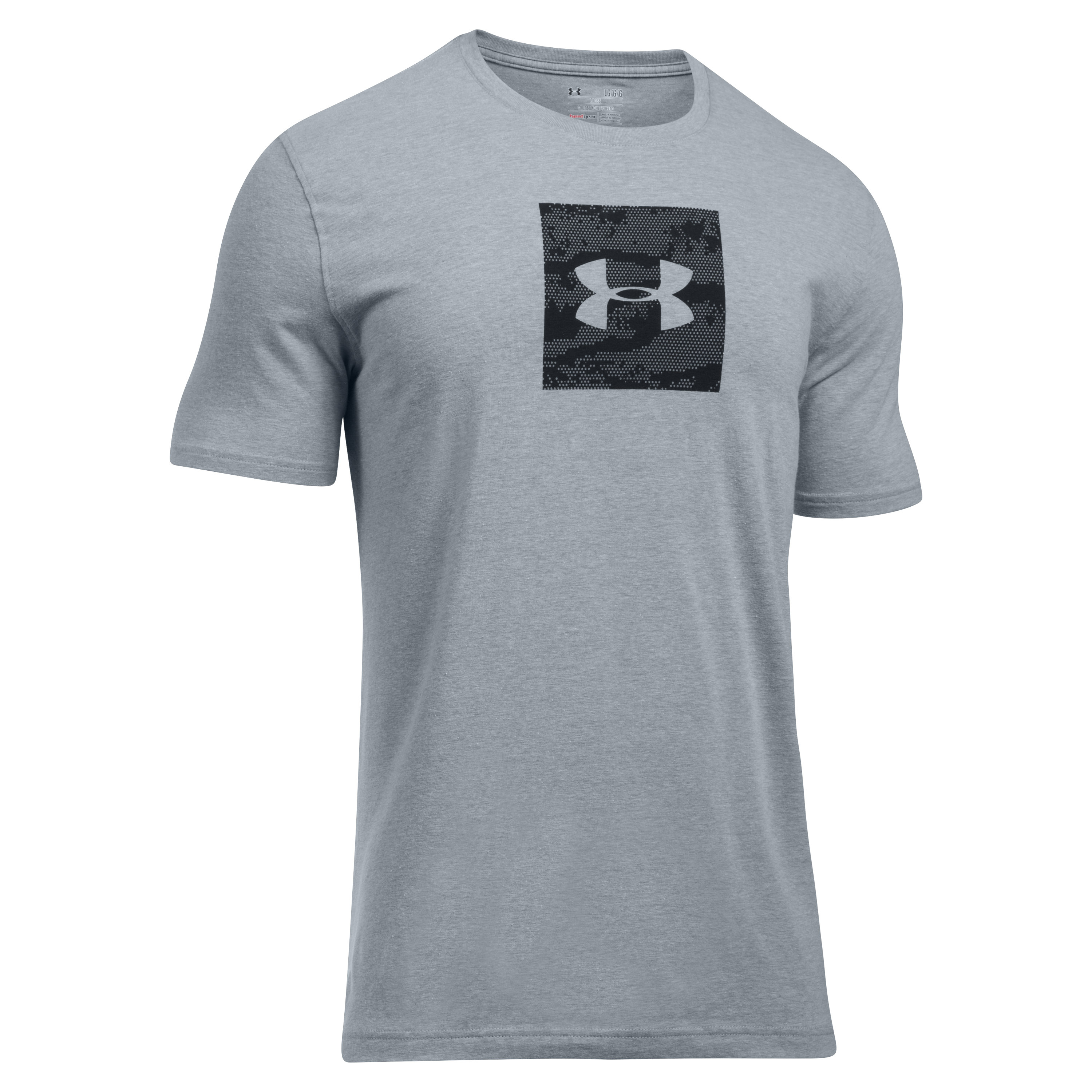 Under Armour T-Shirt Camo Boxed Logo SS gray/black