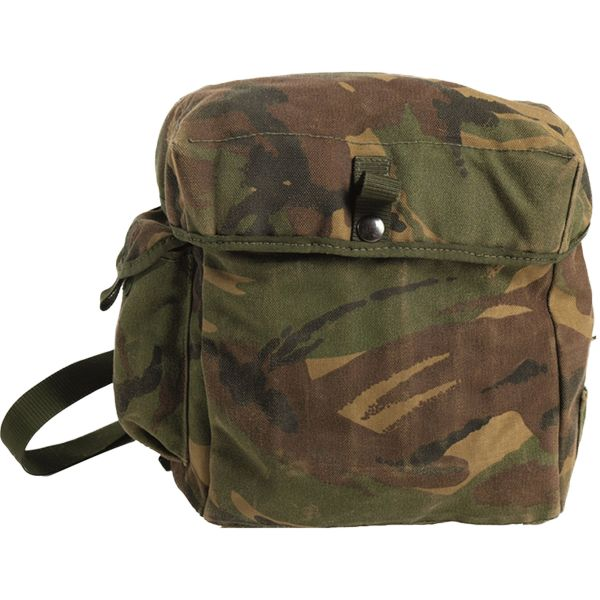 Used British Mask Pouch with Strap camouflage