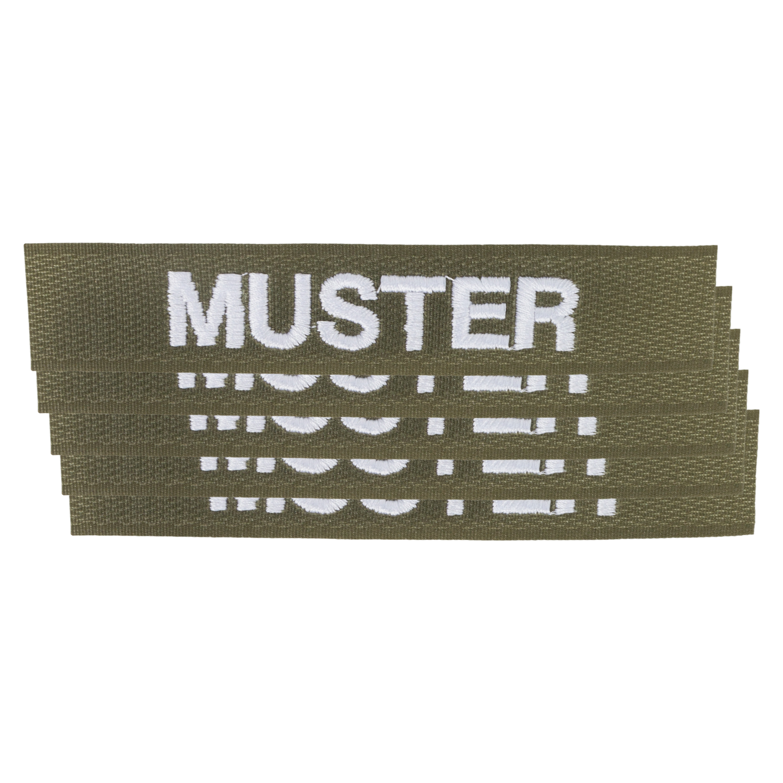 Name Tapes 5 pack Velcro olive/white