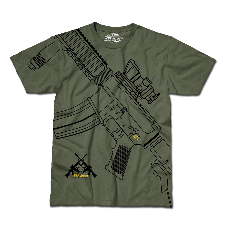 T-Shirt Get Some oliv