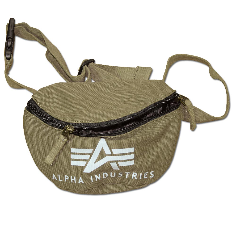 Alpha Industries Big A Canvas Waist Bag olive