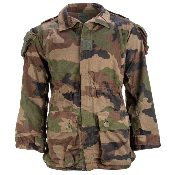Used French Combat Jacket T4 R/S camouflage