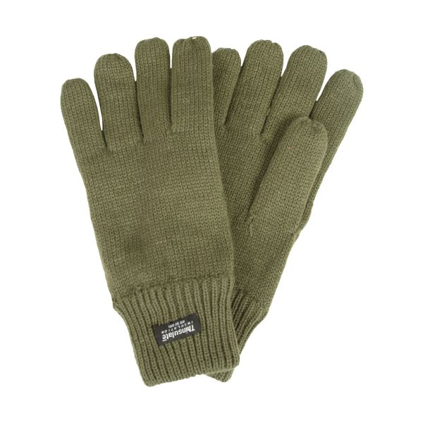 Thinsulate Knitted Gloves olive