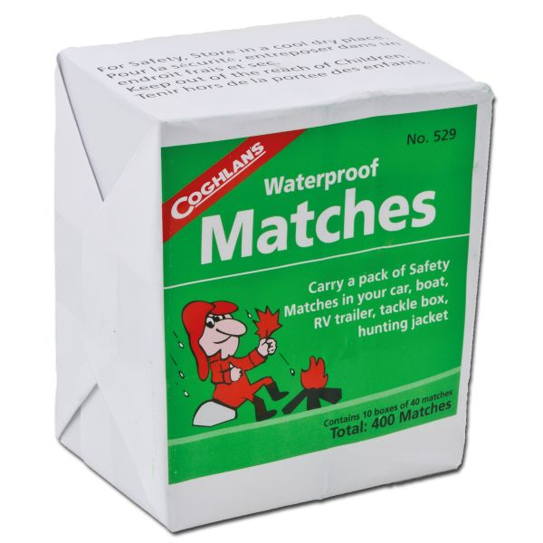 Waterproof Matches 10 X 40 Pieces