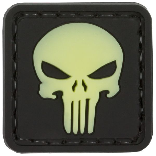 TAP 3D Patch Punisher Skull GID