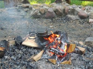 Esbit am Feuer