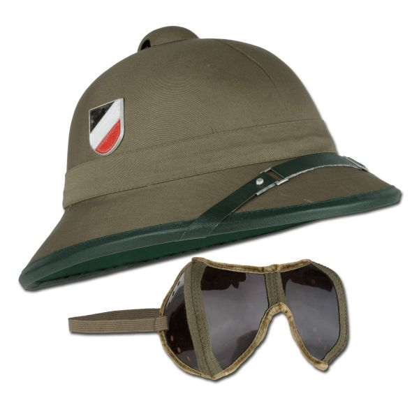 Tropical Helmet WWII with Goggles