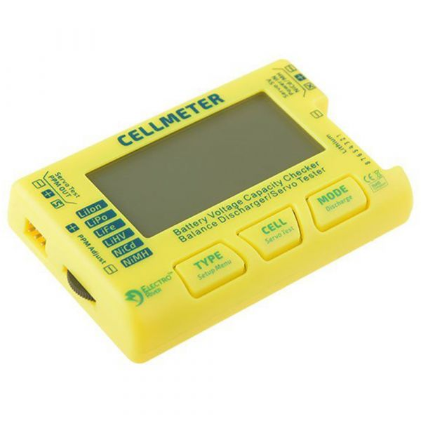 Electro River Universal Battery Tester yellow