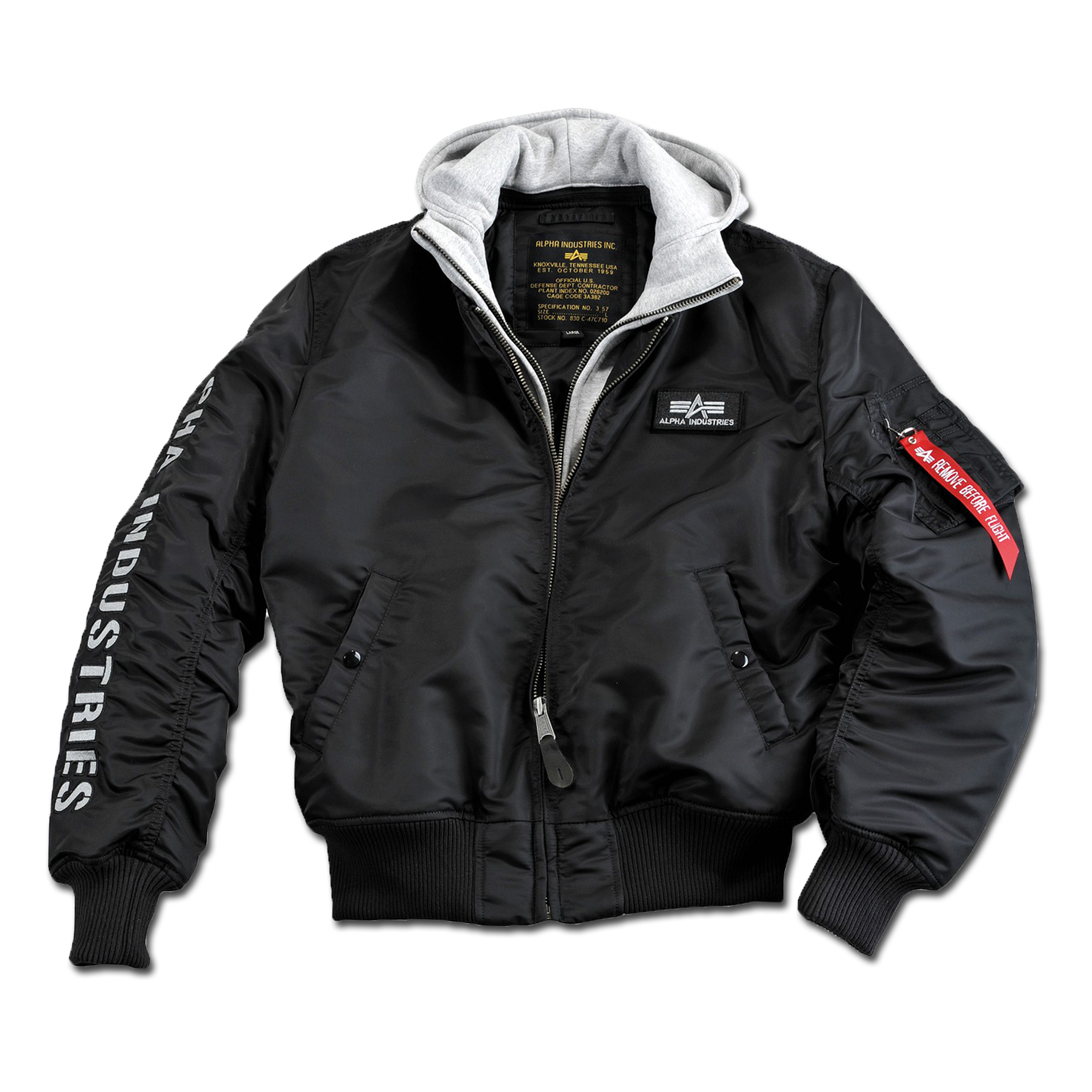 Jacket Alpha MA-1 D-Tec SE black-gray