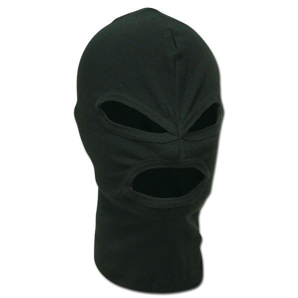 3-Hole Face Mask Cotton black