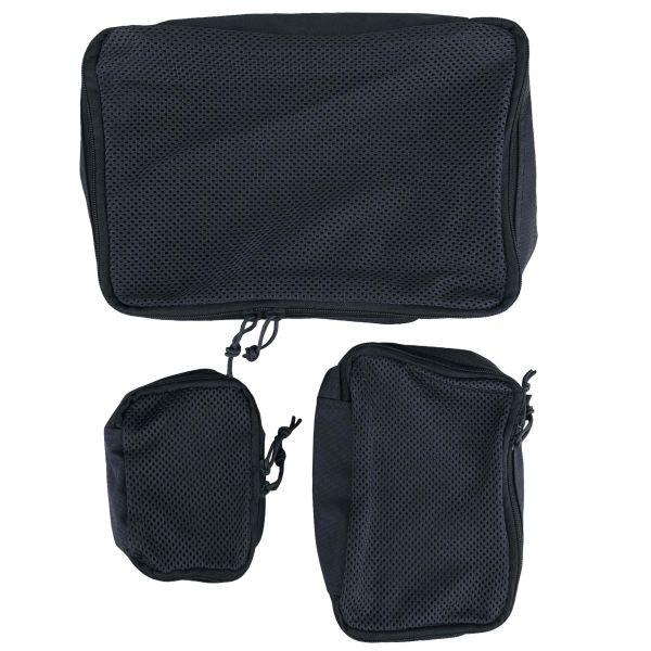 Mil-Tec 3-Piece Net Pouch Set black