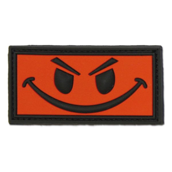 3D-Patch Evil Smiley red