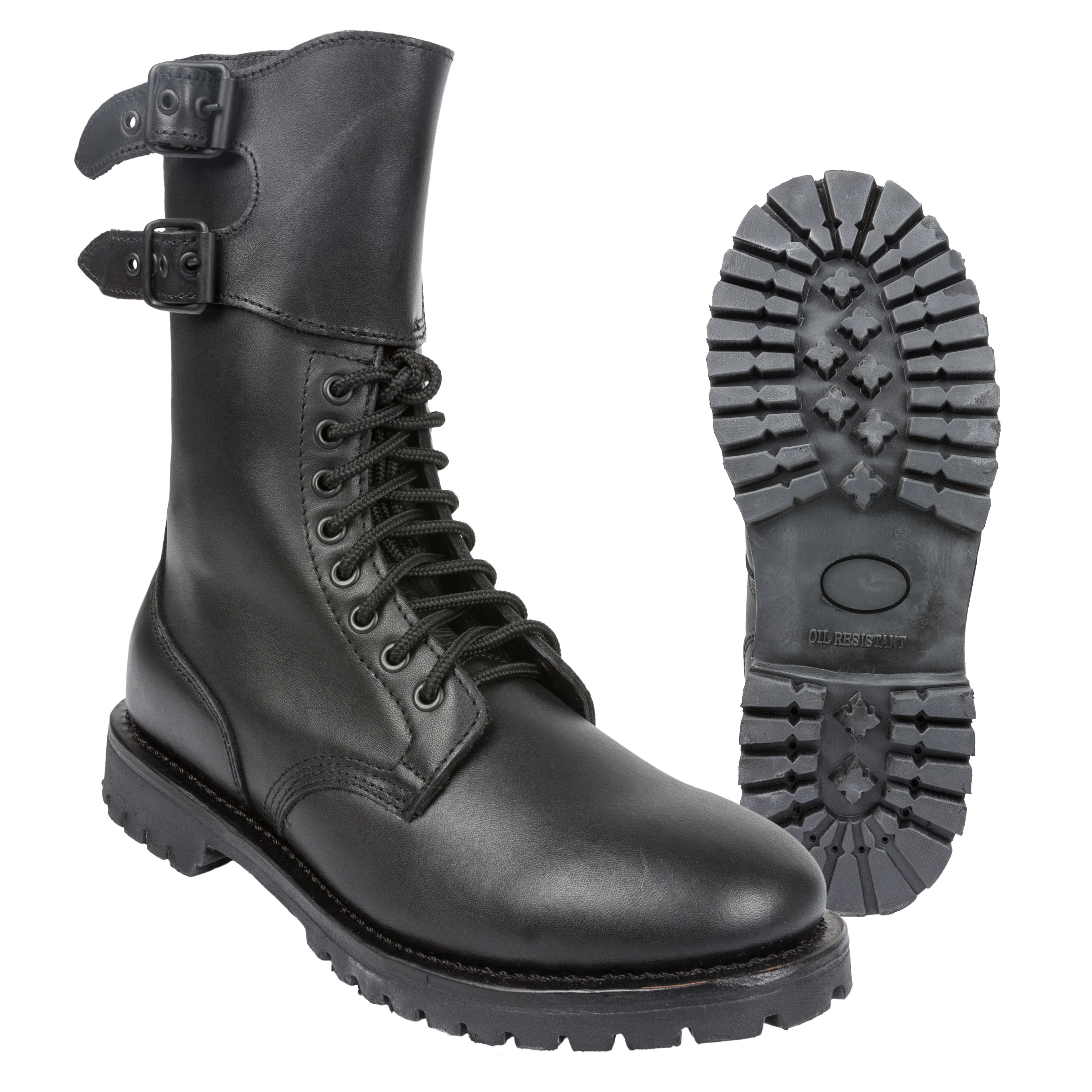 French Combat Boot with Gaiter black