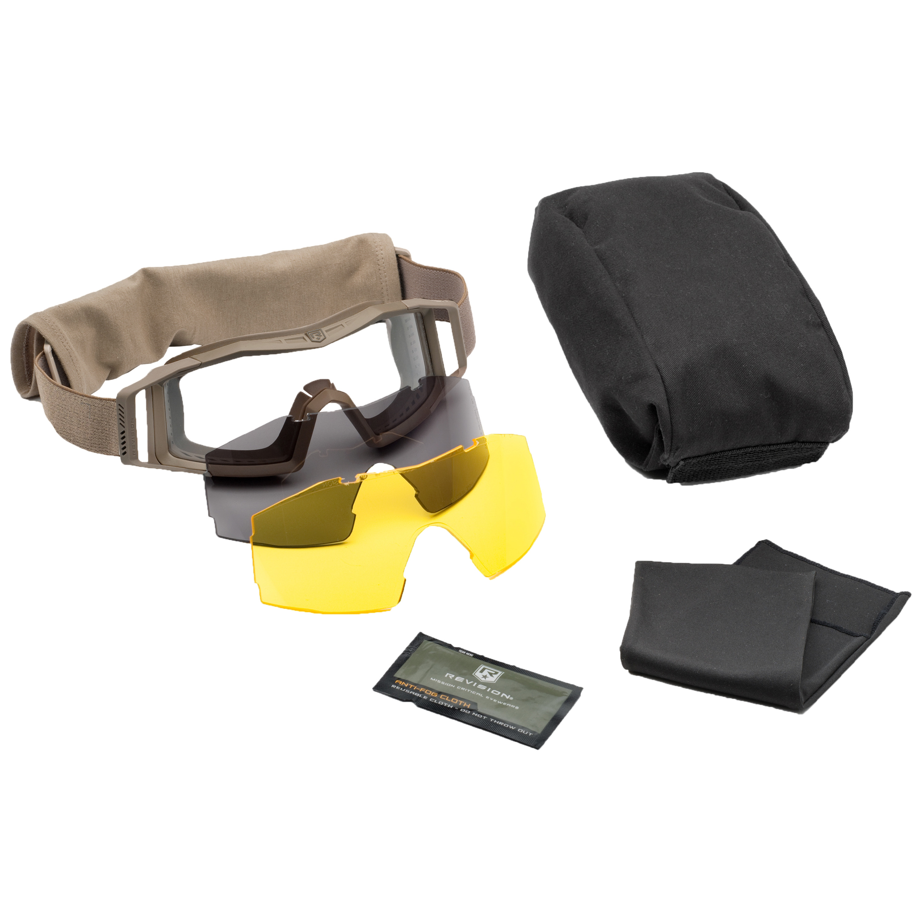 Revision Goggles Wolfspider Deluxe tan/yellow lens