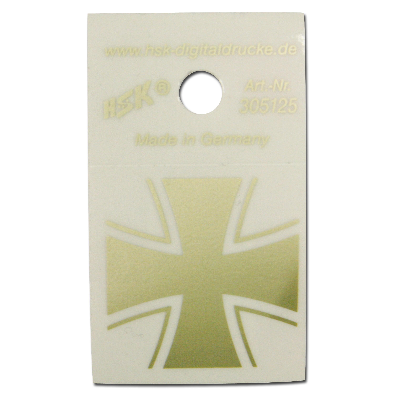 Sticker Eisernes Kreuz gold