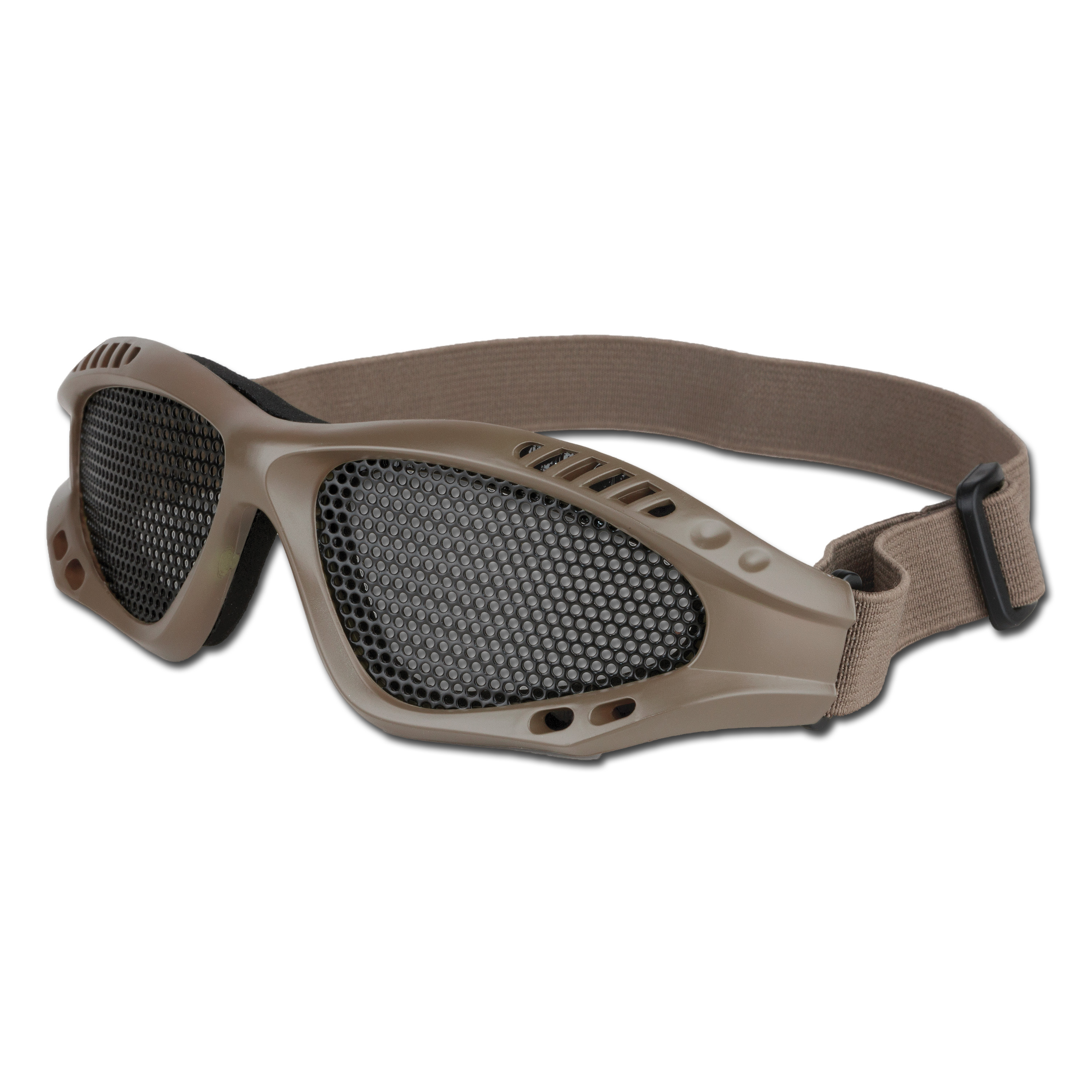 Airsoft Glasses With Metal Mesh Insert beige