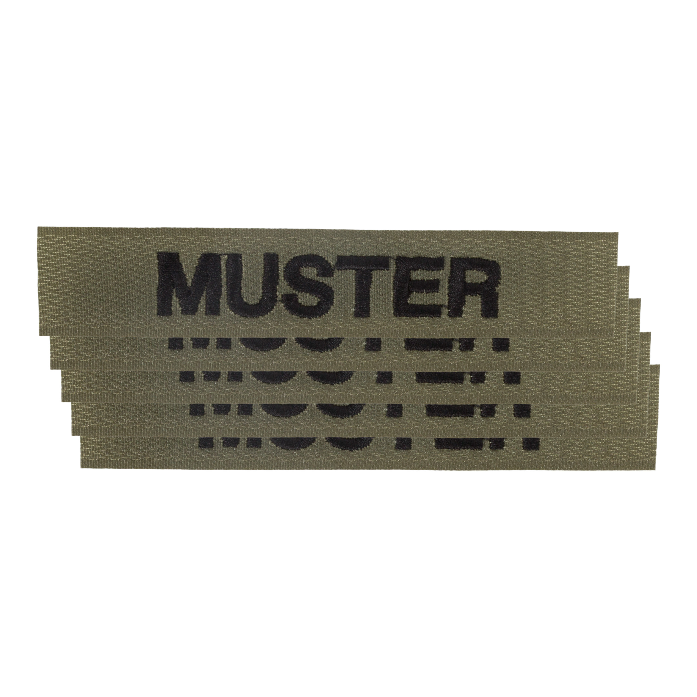 Name Tapes Velcro 5 pack olive/black