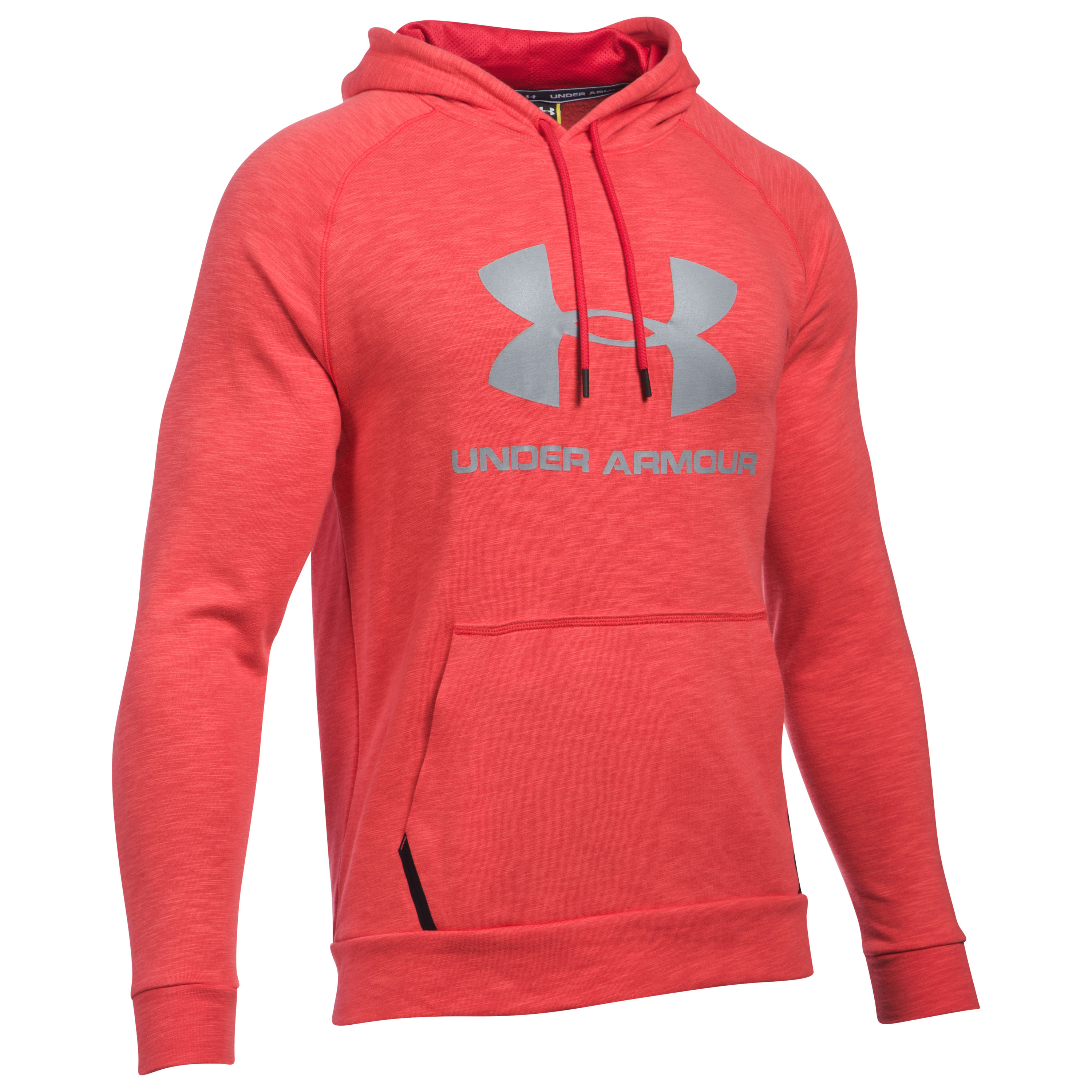 Under Armour Fitness Pullover Hoody Sport Style Triblend red