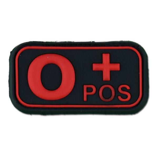 3D Blood Patch 0 Pos black medic