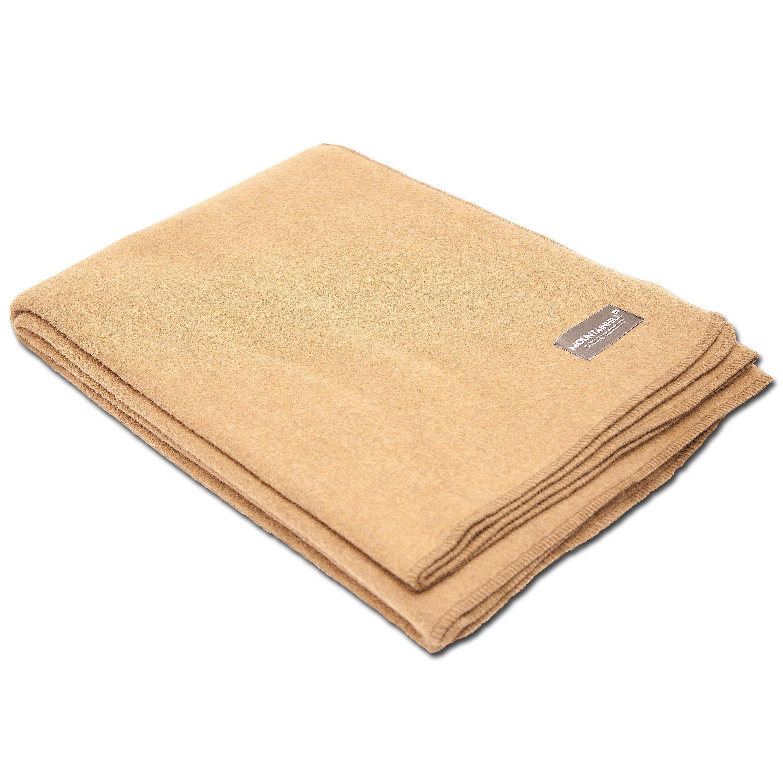 Wool Blanket 150 x 225 cm camel