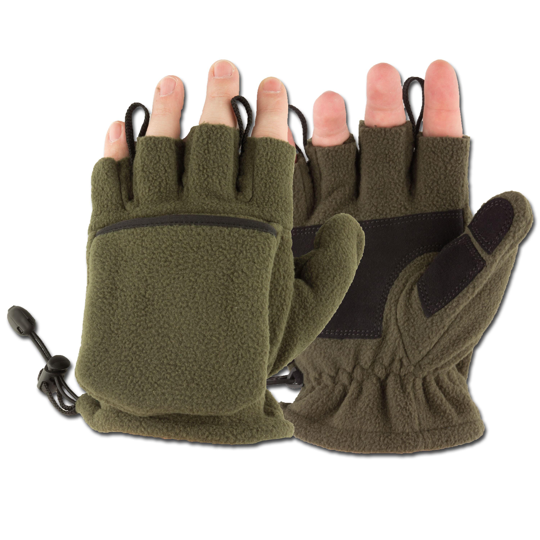 Fleece Gloves MFH olive