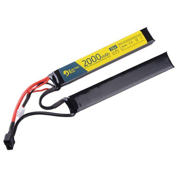 Electro River Li-Po Battery 7.4 V 2000 mAh Stick 15/30C Dean