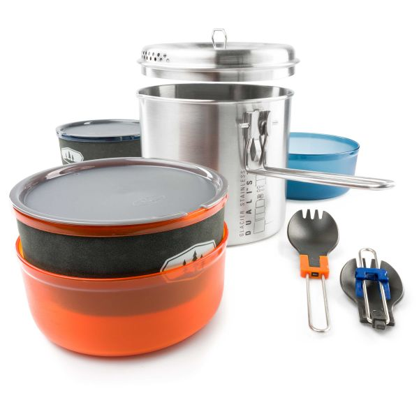 GSI Outdoors Cooking Set Glacier Stainless Dualist II