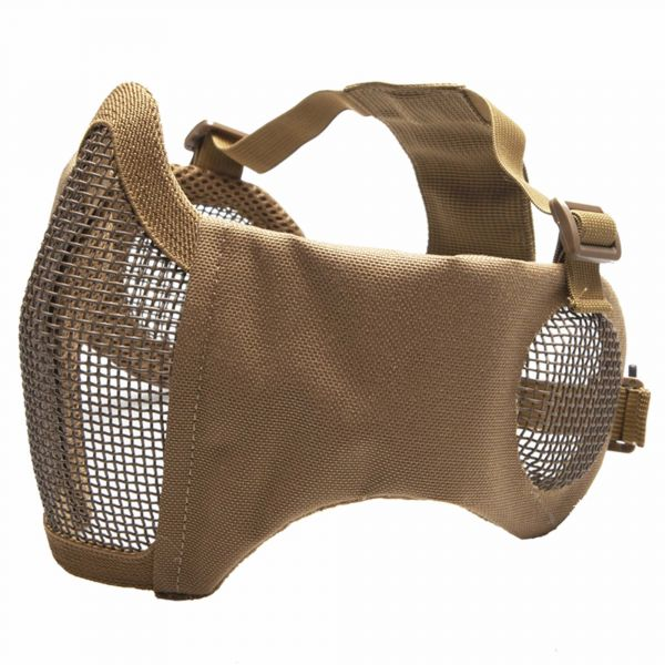 ASG Metal Mesh Mask with Pads and Ear Protectors tan