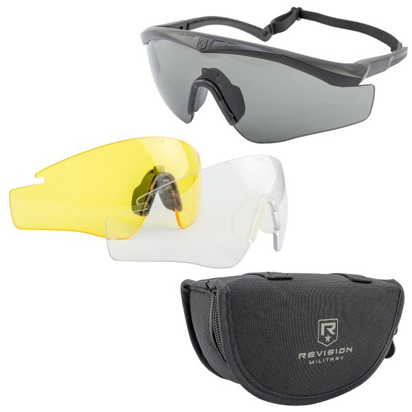 Revision Glasses Sawfly Max-Wrap Mission Kit black small