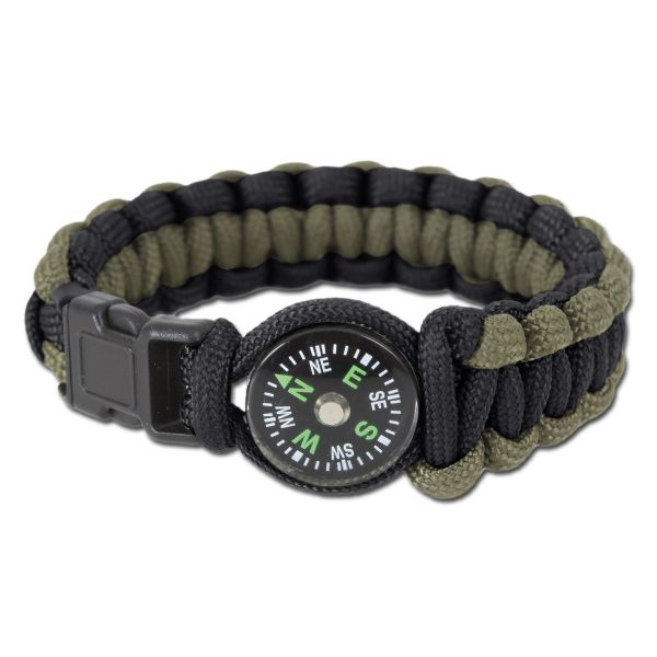 Rothco Bracelet W/Compass black/olive