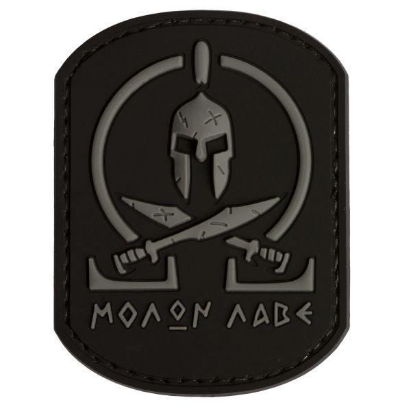 TAP 3D Patch Molon Labe Spartan black